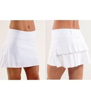 Lululemon Pace Setter Skirt White Shorts